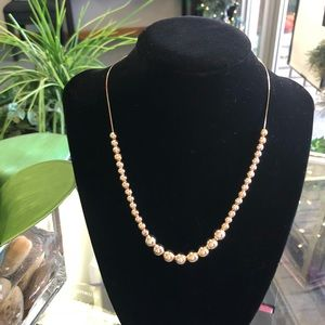 Jewelry - Solid 14k Gold Graduated Bead Necklace gold ball